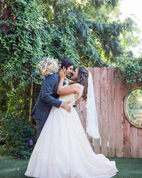 Sierra Schultzzie and her husband, Stephen giving a pose at their wedding.