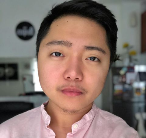 Jake Zyrus in a pink shirt.