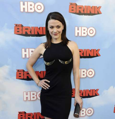 American actress, Maribeth Monroe at the premiere of the film The Brink.