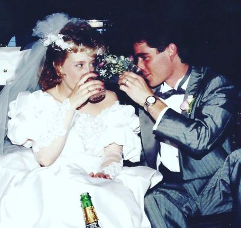 Yannick Bisson on his wedding day.