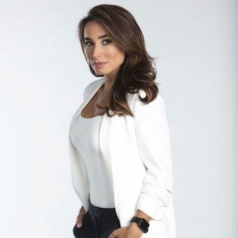Actress, Majida Issa giving a pose.