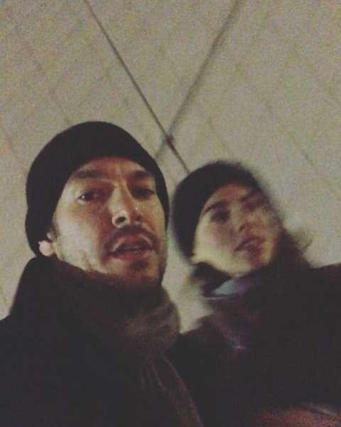 Melia Kreiling and her boyfriend, Evan Schiller taking a selfie.