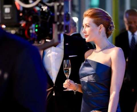 Jennifer Finnigan during one of her television shoot.