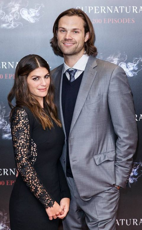 Genevieve Cortese along with her husband at an event.