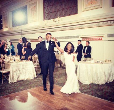 Christie Ileto along with her husband, Brandon at their wedding ceremony.