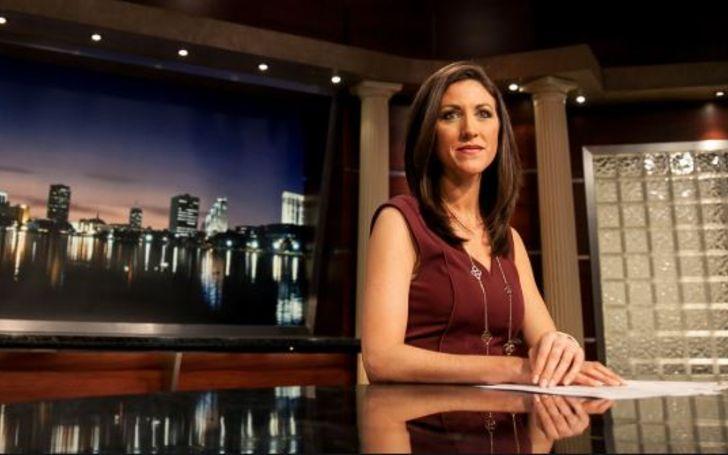 Marci Gonzalez on her Television set.