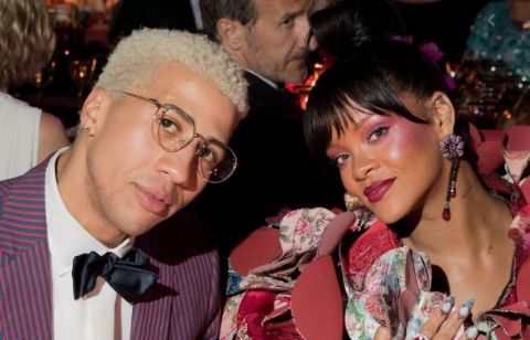 Miles Chamley spotted with Rihanna.