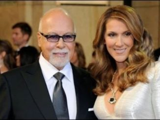 Rene Angelil with his wife, singer Celine Dion.