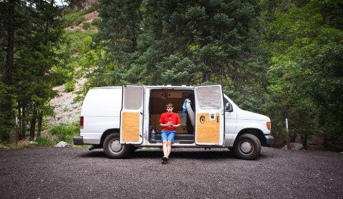 Alex Honnold in his van.