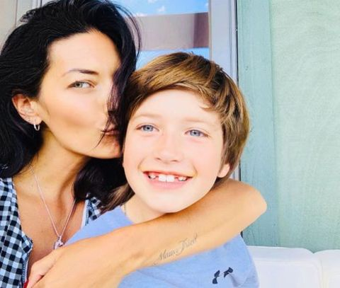 Actress, Nicole Muirbrook taking a selfie with her son, Gus Sheridan.
