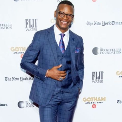 Actor, Lawrence Gilliard Jr. giving a pose in an event.