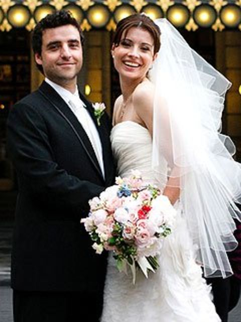 David Krumholtz along with his wife, Vanessa Britting at their wedding.