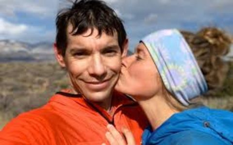 Alex Honnold with his love of life, Sanni Mccandless.