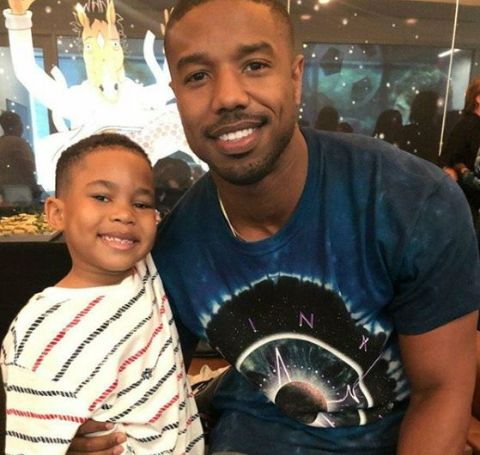 Ja'Siah Young with Michael B. Jordan working together for Raising Dion.