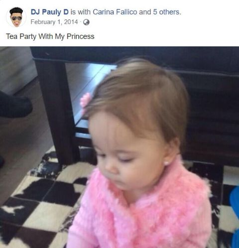 Pauly D's daughter Amabella.