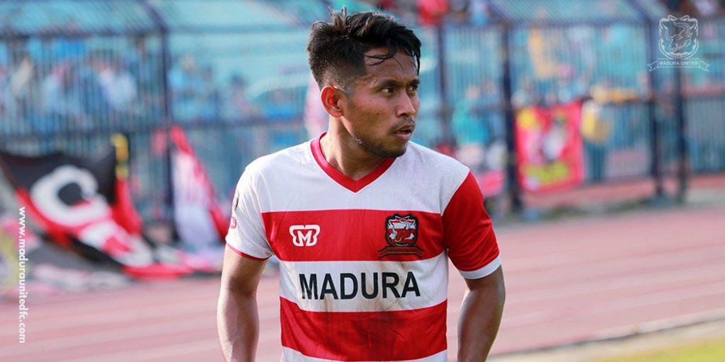 Andik Vermansah in the uniform of Madura United