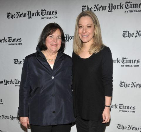 Alex Witchel in right with Ina Garten poses at the event of The New York Times.
