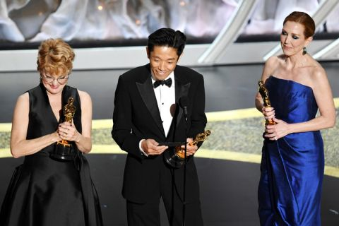 Kazu hiro won the Oscar for the 2nd time.