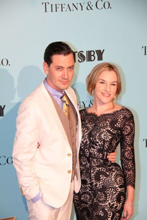 Actress, Kate Mulvany giving a pose along with her husband, Hamish Michael.
