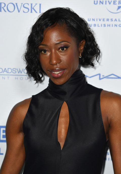 Nikki Amuka-Bird giving a pose in an event.