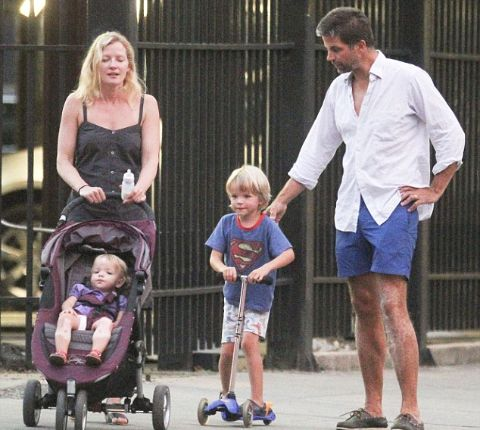 Gretchen Mol clicked along with her husband, Kip Williams and their children, Ptolemy and Winter.