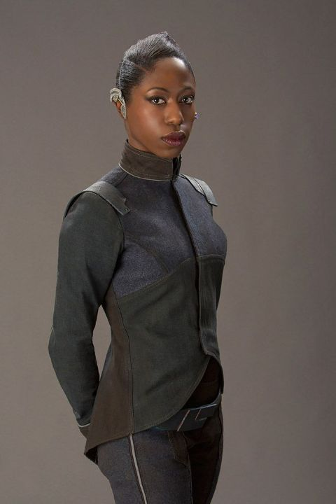 Actress, Nikki Amuka-Bird giving a pose in one of her photoshoots.