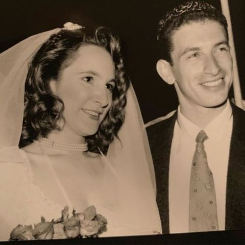 Mark Ivanir and his wife at their wedding ceremony.