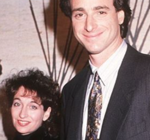 Jennifer Belle Saget's parents Sherri Kramer and Bob Saget posed for a picture.