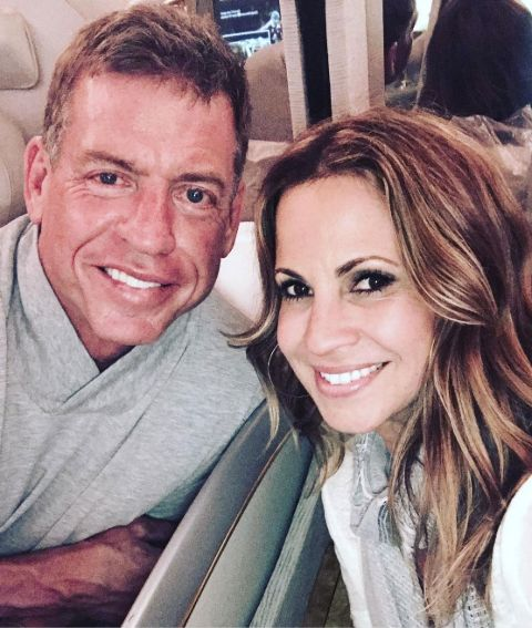 Capa Mooty along with her husband, Troy Aikman.