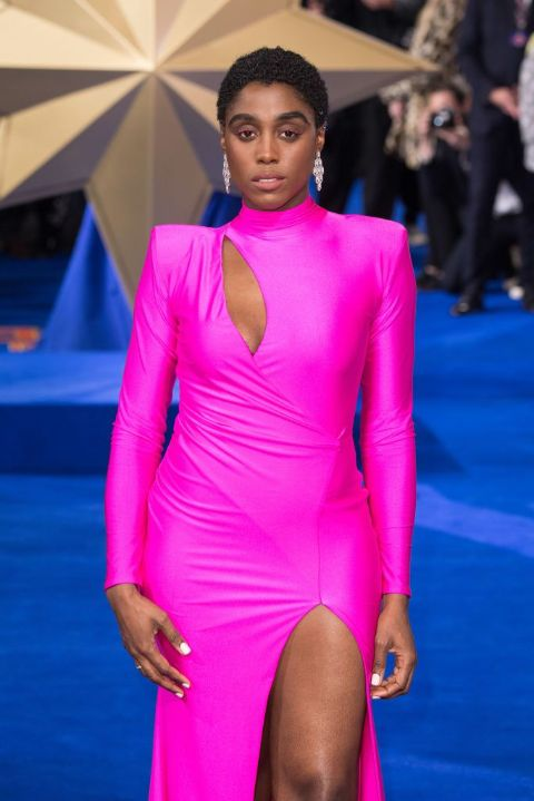 Lashana Lynch giving a pose in an event.