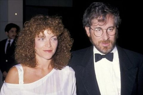 Amy Irving clicked alongside her ex-husband, Steven Spielberg.