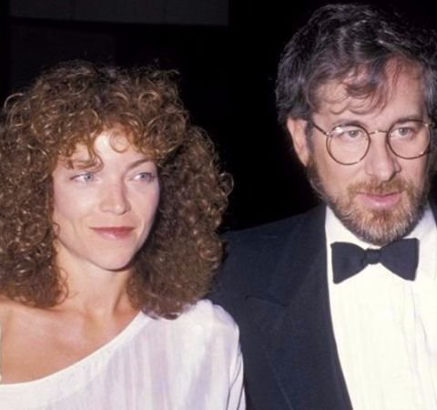 Max Spielberg's parents Amy Irving and Steven Spielberg.