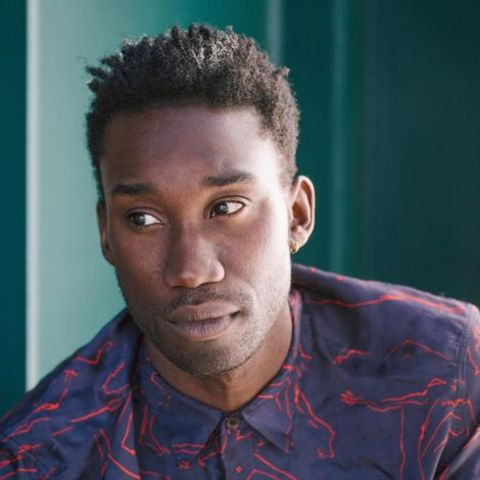 Nathan Stewart Jarrett giving a pose during one of his photoshoots.