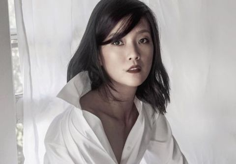 Pamelyn Chee giving a pose in a photoshoot.