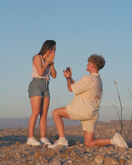 Ryan Trahan popped the question in May 2020
