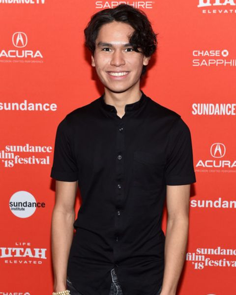 Forrest Goodluck giving a pose.