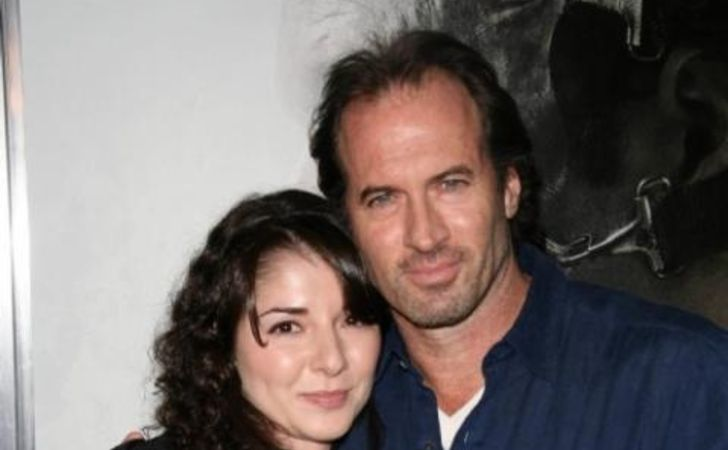 Vera Davich poses a picture with her ex-husband Scott Patterson.