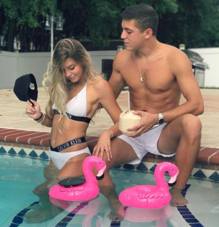 Isaac Nakash and his girlfriend Eden Dunn caught in the camera.