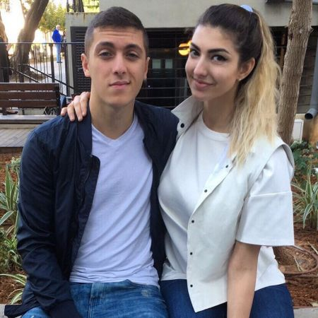 Isaac Nakash poses a picture with ex-girlfriend Rachel Levin.