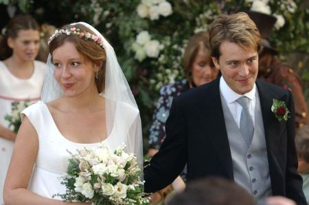 Kate Rothschild With Ben Goldsmith At Their Marriage