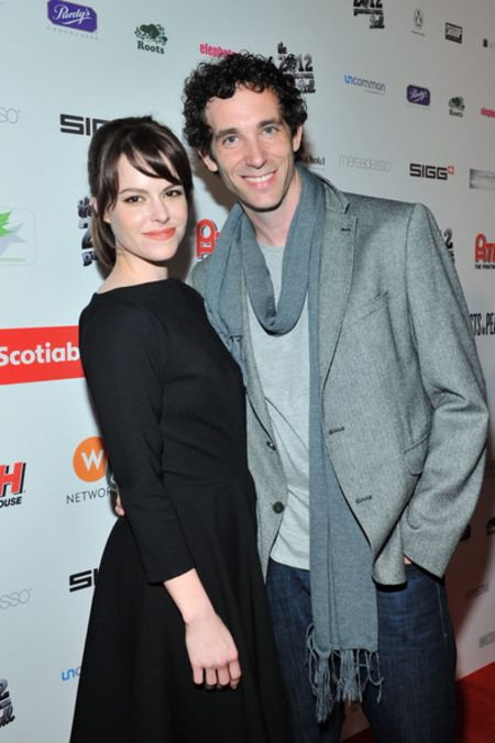 Emily Hampshire with her husband Matthew Smith