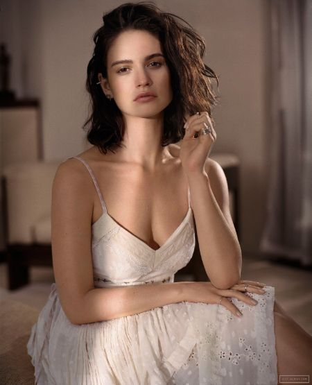Lily James is an English actress