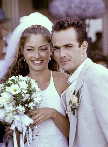 Rachel Sharp with Ex-Husband Luke Perry