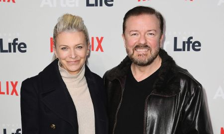 Jane Fallon With Her husband Ricky Gervais