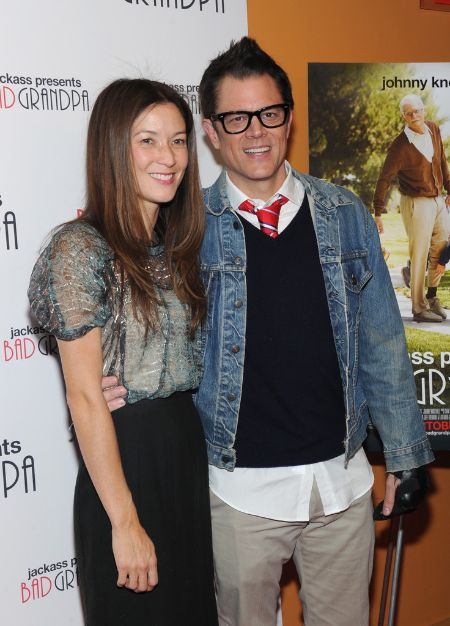 Actor Knoxville with wife Naomi Nelson