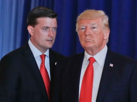 Rob Porter poses a picture with President Donald Trump.