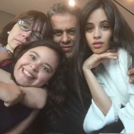 Camila Cabello with her parents
