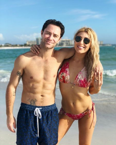 Emma Slatter with her husband Sasha Farber