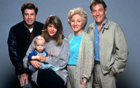 Kirstie Alley with her family