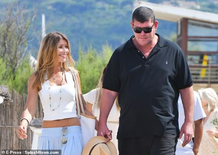 Kylie Lim with her boyfriend James Packer